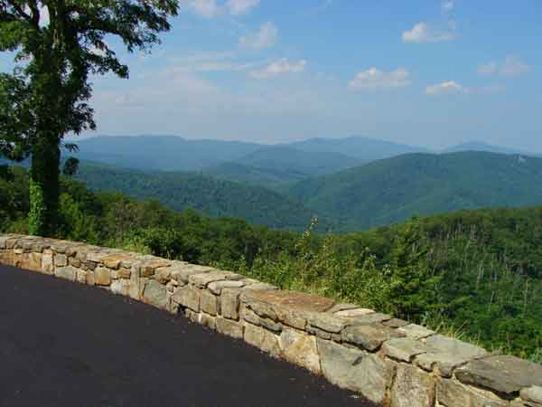 Blue Ridge Mountains along Skyline Drive